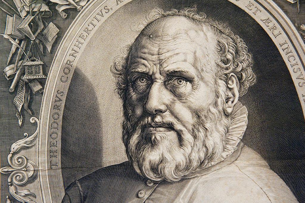 Hendrick Goltzius - Portrait de Dirck Volckertsz Coornhert 1591 - 1592