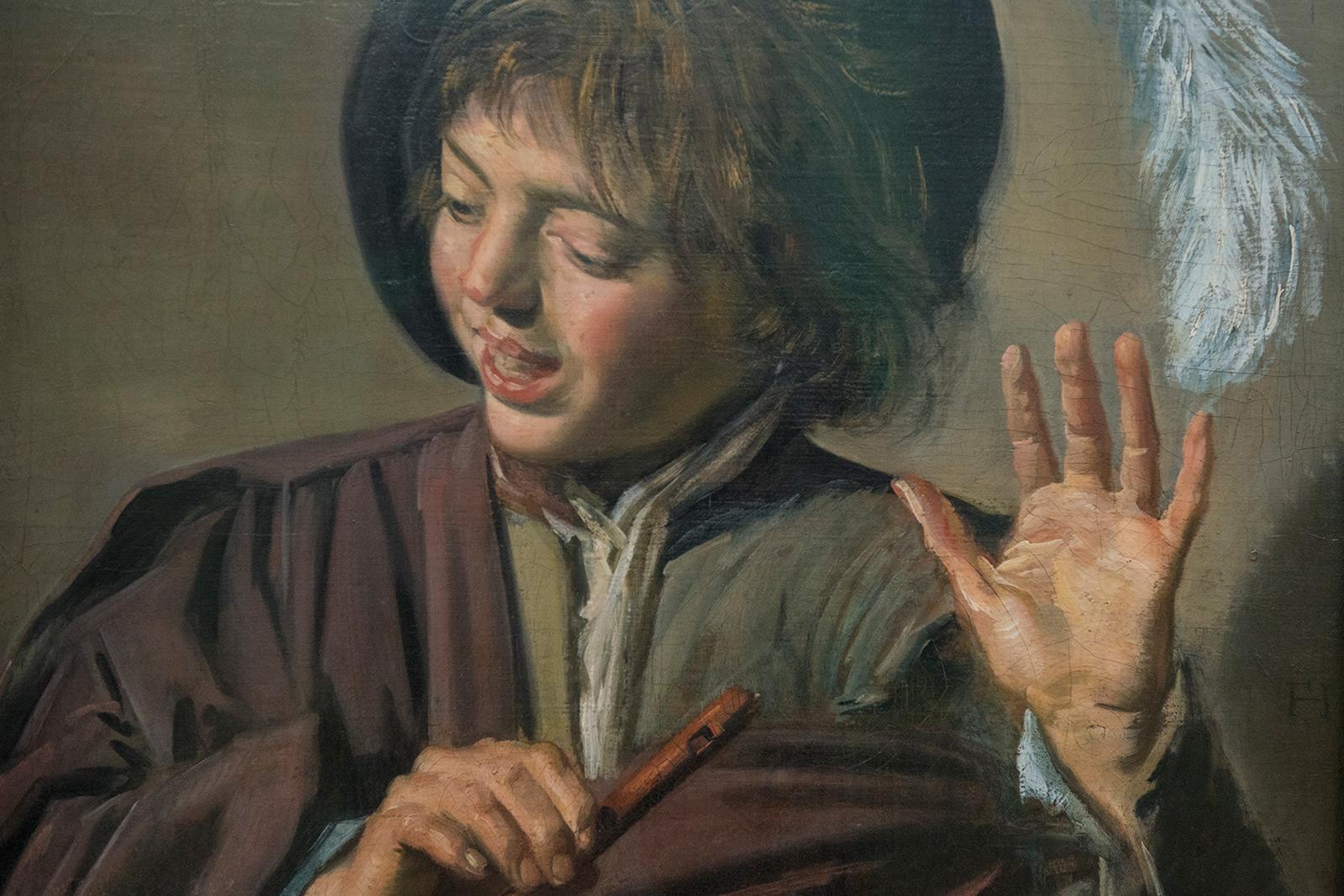 Frans Hals (1581:1585-1666) - Jeune chanteur à la flûte vers 1623-1625