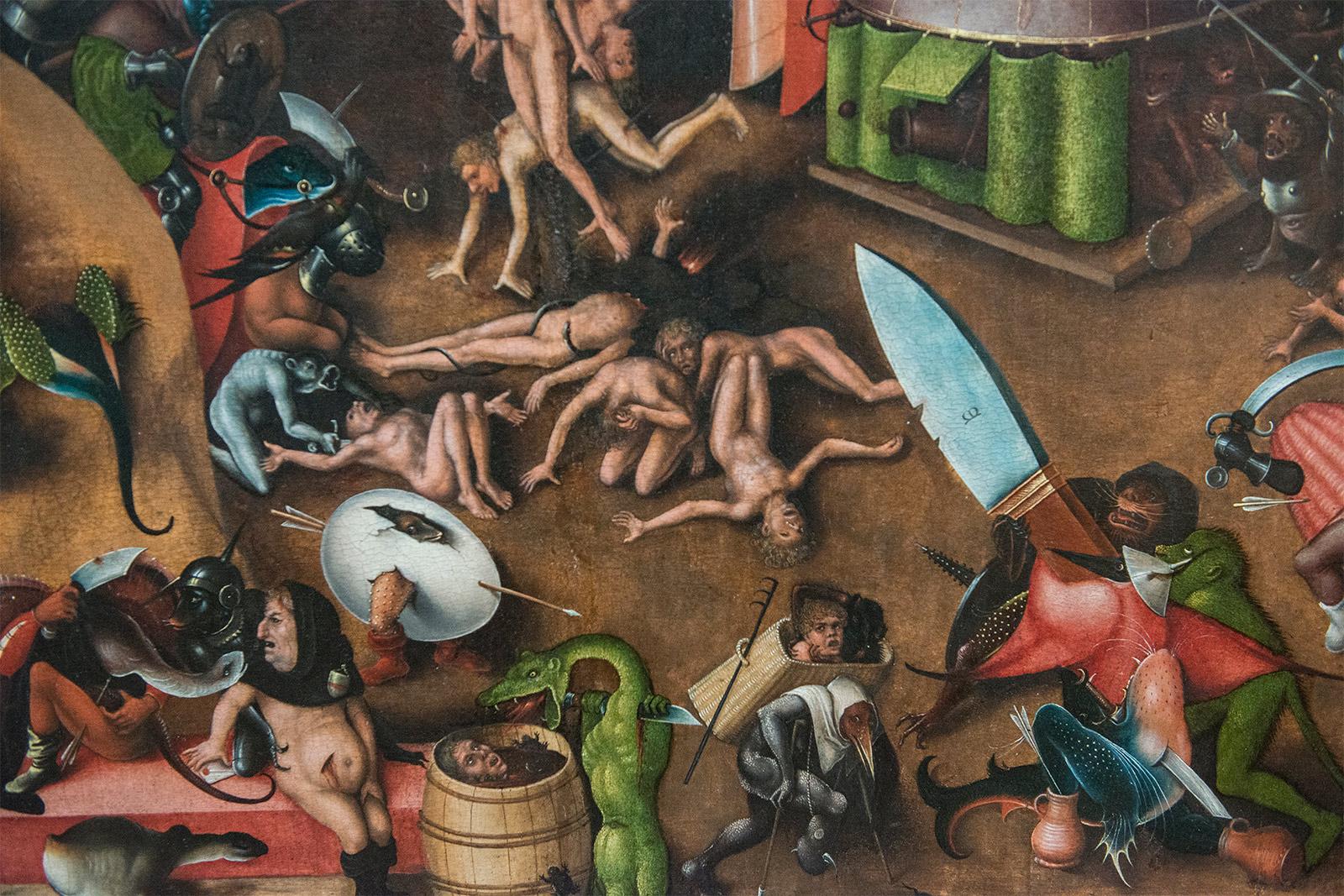 """Lucas Cranach l'Ancien  (1472-1553) le tryptique du """"Jugement dernier""""  d'après une oeuvre de J. Bosch, peint vers 1508-1525."""