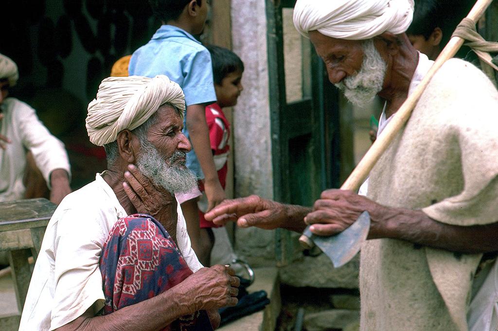 Scène de rue Jaisalmer - Rajasthan -  Inde