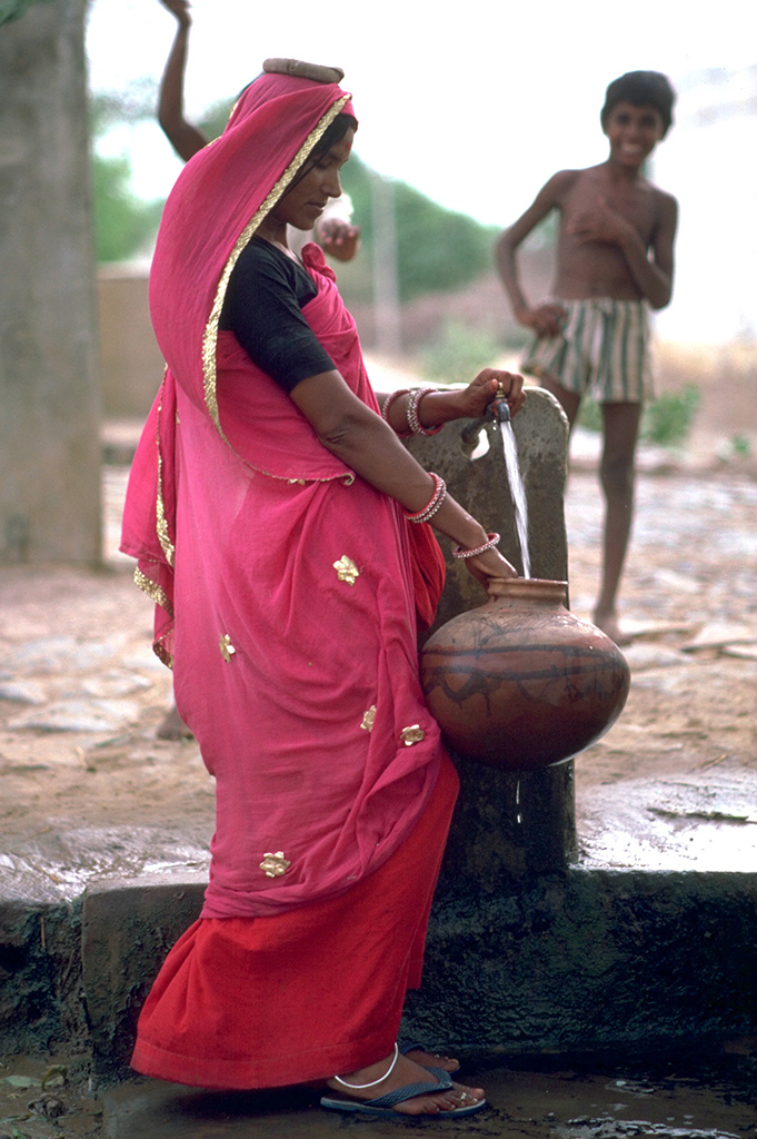 Ville de Dundlod - Region du Shekawati - Rajasthan/IInde - 1985
