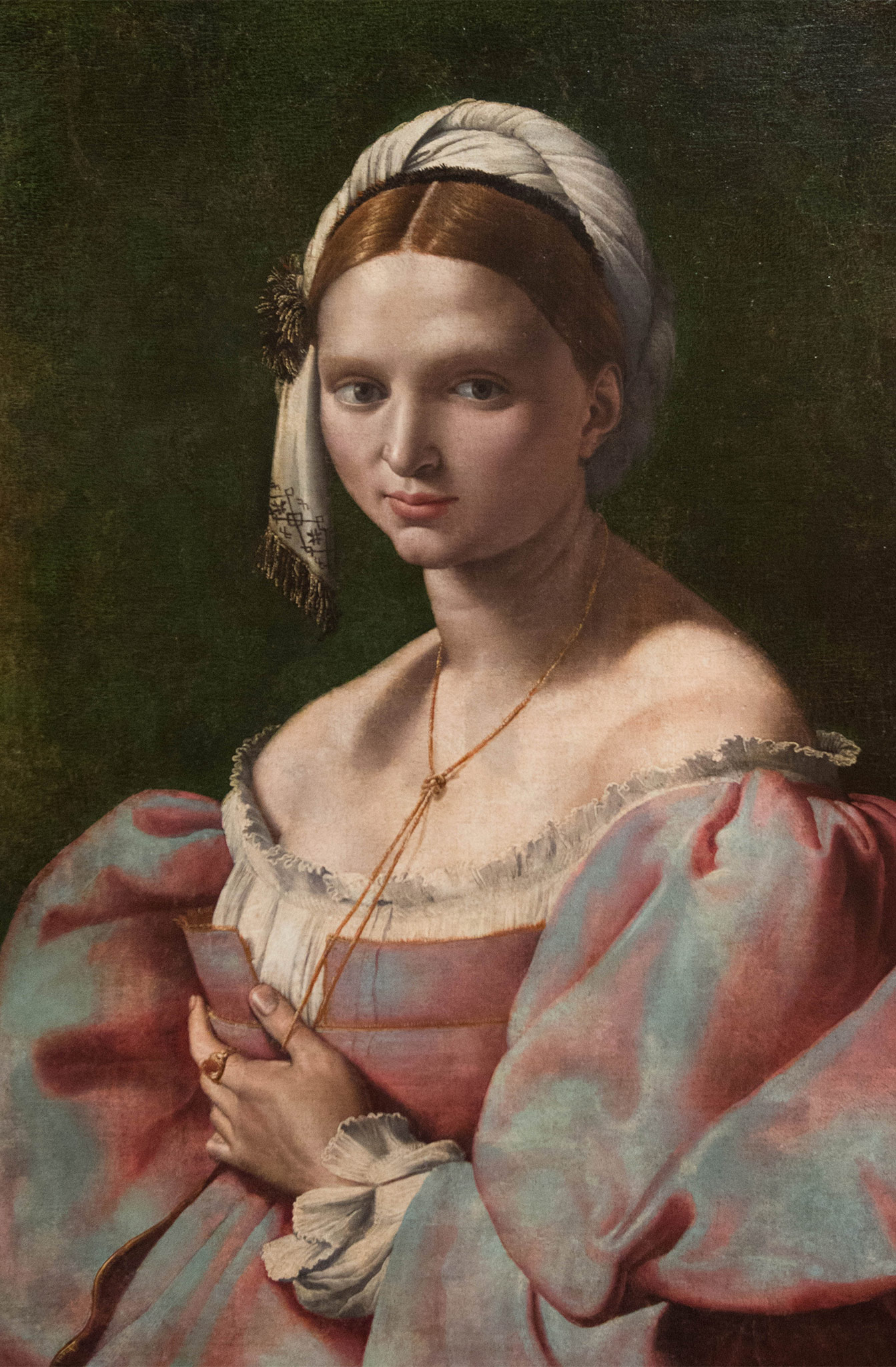 Portrait de jeune femme - Giuliano Bugiardini (1475-1554) Florence 1516-25 - huile sur toile - Musée Calouste Gulbenkian - Lisbonne