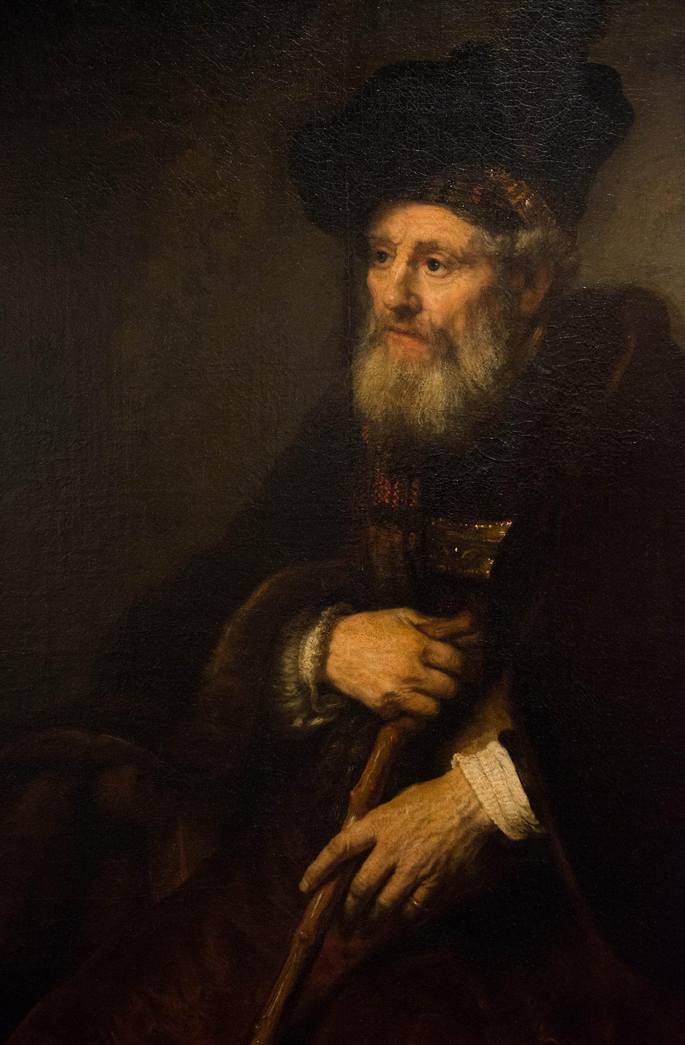 Figure de vieil homme - Rembrandt Harmensz van Run (1606-1669) Hollande 1645 - Huile sur toile - Musée Calouste Gulbenkian - Lisbonne