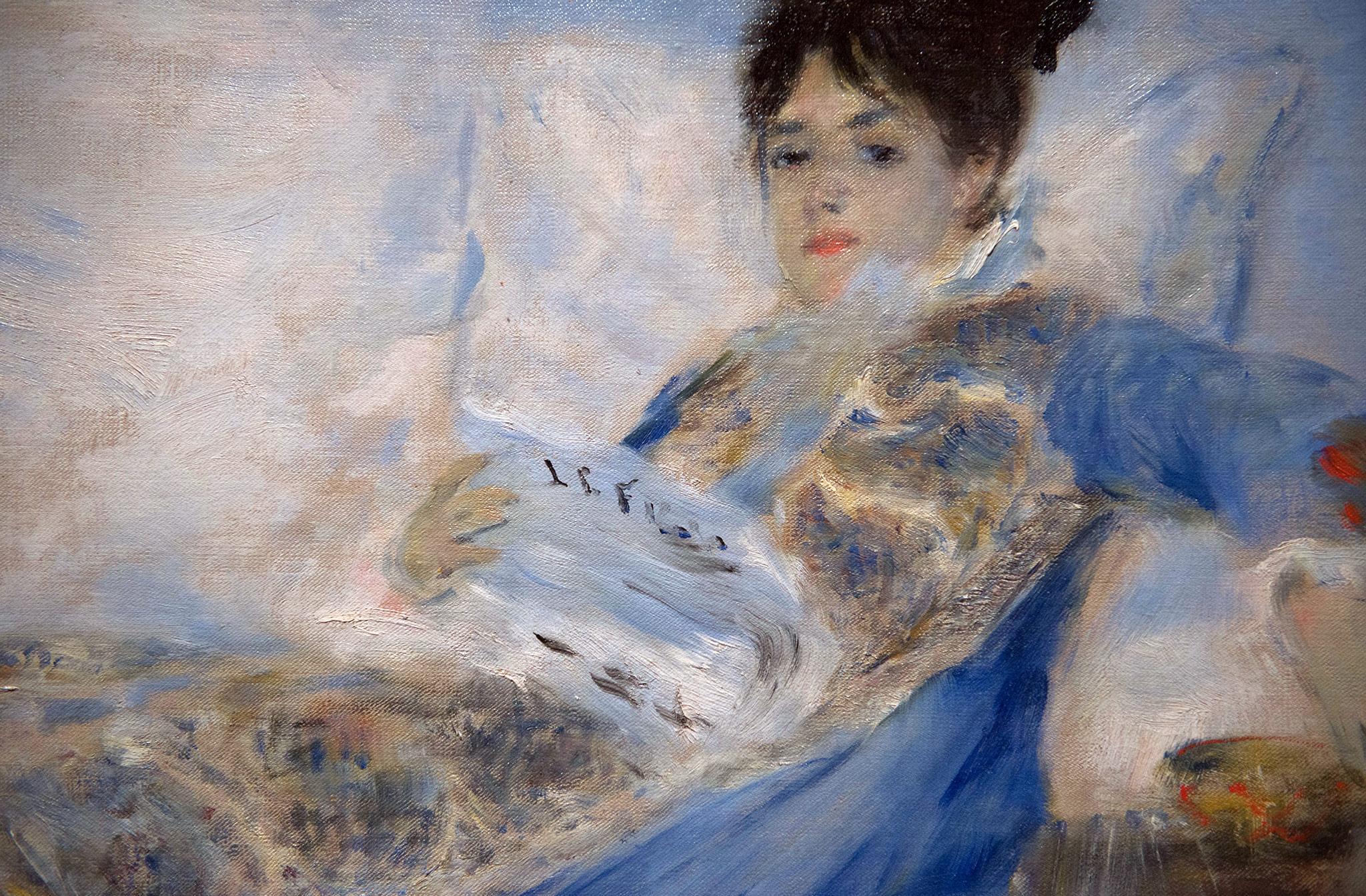 Portrait  de Madame Claude Monet - Pierre-Auguste Renoir (1841-1919) France V. 1872-1874 huile sur toile. Musée Calouste Gulbenkian - Lisbonne