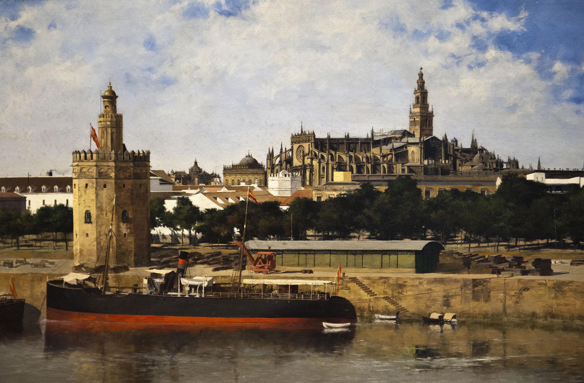 Vue de Séville - Nicolas Jimenez Alpériz (Séville 1965-1928)Musée des Beaux Arts SÉVILLE 2011