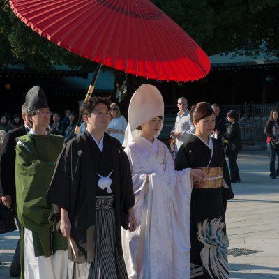Cérémonie de mariage shinto au Sanctuaire Meiji de Tokyo
