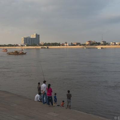Le fleuve Mekong à Phnom Penh