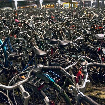 Vu à,la gare d'Amsterdam