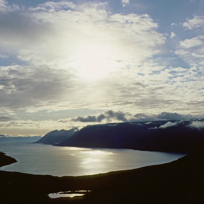 Fjord Arnarfjordur péninsule de l'ouest près de Bildudalur