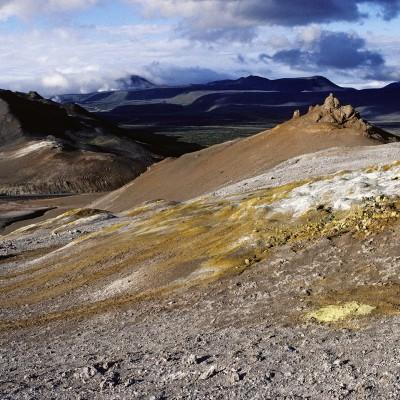 Couleurs volcaniques de Namafjall près du Lac Myvatn - Islande 1986Champ de Solfatares et marmites de boues