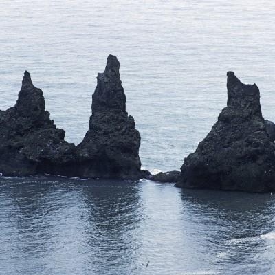 Les rochers vus desFalaises de Dyrholæy