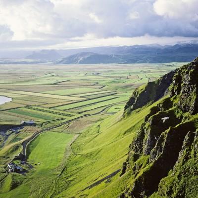 Paysage vu des falaises de Vik