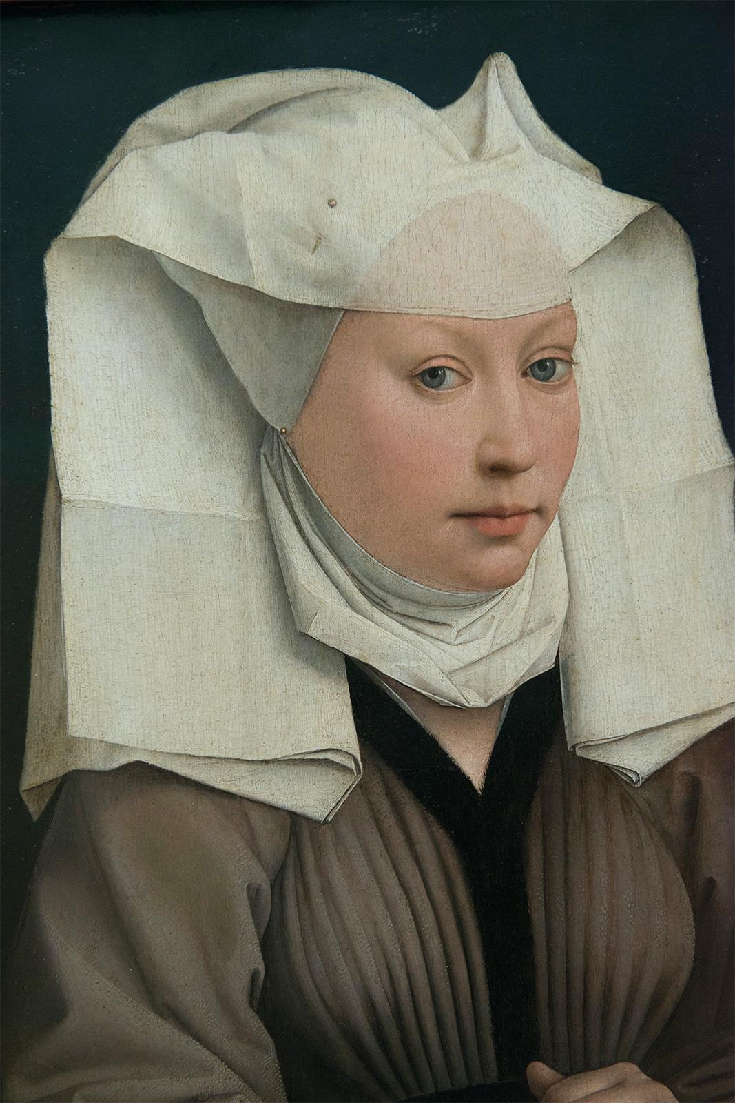 Rogier van der Weyden (1399/1400-1464) Portrait d'une femme avec une grande coiffe à rabats, vers 1435