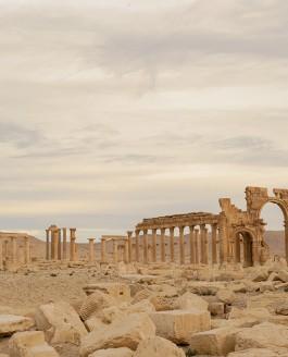 Arc de triomphe de Palmyre : Destruction par l'État Islamique (EI)
