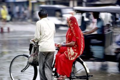 Un jour de mousson à Jaipur - Jaipur Rajasthan - Inde - 1985