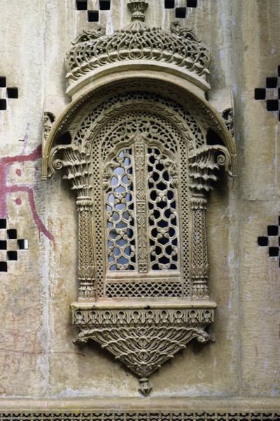 Décor de fenêtre Jaisalmer Inde 1985