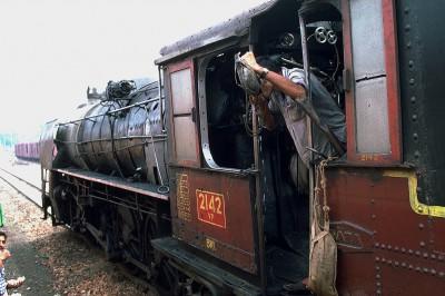 Le Pink city Express entre Delhi et Jaipur - Inde 1985
