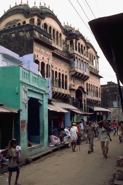 Scène de rue à Dundlod province du Shekawati  - Rajasthan - Inde 1958