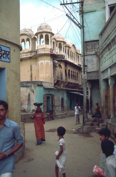 Rue de Dundlod province du Shekawati - Inde 1985