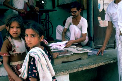 Tailleur ville de Mandawa région du shekawati - Rajasthan Inde