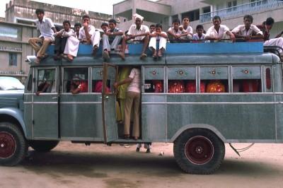 Bus à Mandawa région du Shekawati - Inde 1985