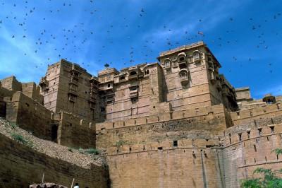 Palais du Maharawal citadelle de Jaisalmer - Rajasthan - Inde 1985