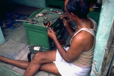 Travail de l'argent Province du Shekawati - Rajasthan Inde 1985