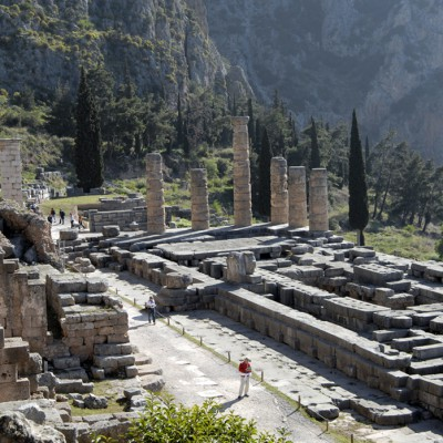 Le temple d'Apollon Pythien - Delphes