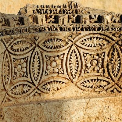 Bloc sculpté avec motifs décoratifs - Palmyre - Syrie