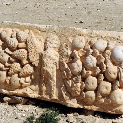 Bloc sculpté temple de Bêl Palmyre Syrie