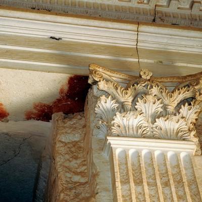 Chapiteau à l'intérieur de la tour d'Elahbel