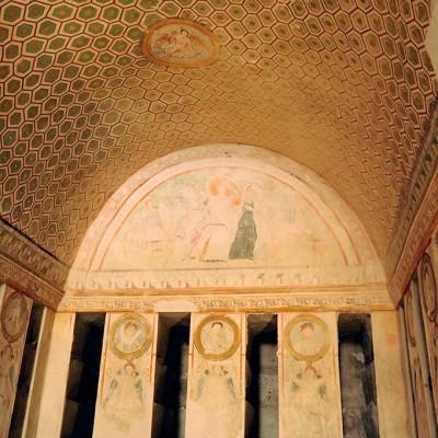 Les peintures du tombeau dses trois frères découvert en 1895 à Palmyre - Syrie