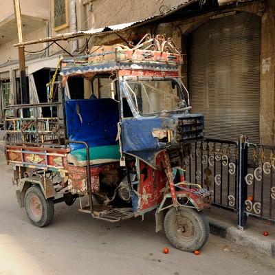Dans une rue de Palmyre - Syrie