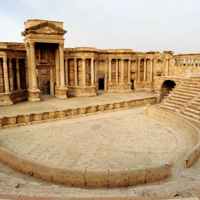 Le théâtre : construit entre la première et la seconde moitié du IIe siècle ap. J.-C. Palmyre - Syrie