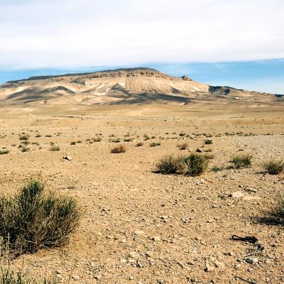 Le désert près de Palmyre