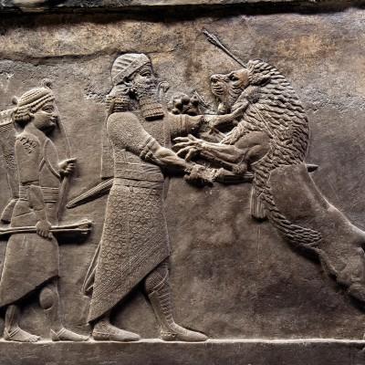 Ninive - Chasse au lion palais d'Assurbanipal