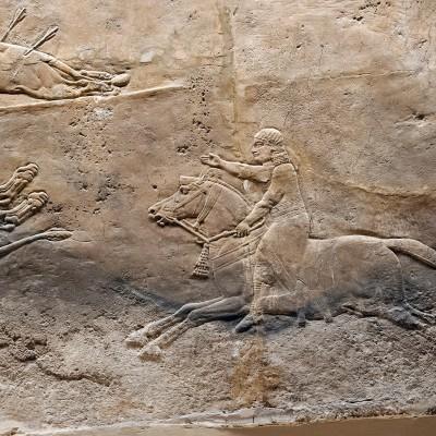 Chasse royal au lion en Assyrie ; palais nord, Ninive ; 645-635 av. J.-C.