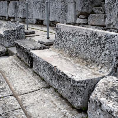 Epidaure. Le théâtre, construit au IVe siècle av. J.-C. par l'architecte Polycète
