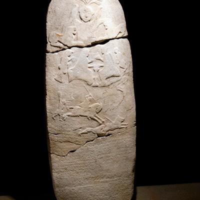 Stèle votive période anatolienne et persianne, 6e siècle avant J.-C. ville de Bilecik Turquie