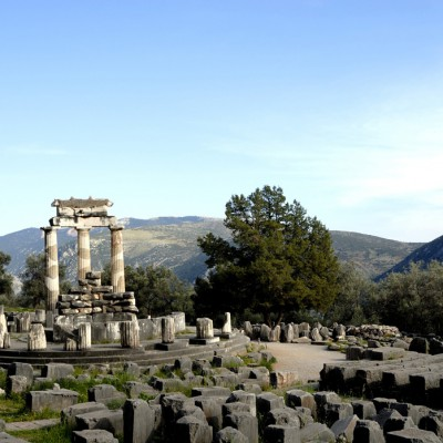 La Tholos dans le sanctuaire d'Athéna Pronaia