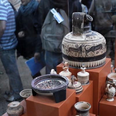 Musée archéologique de Corinthe - Vases décorés d'animaux fantastiques VIIe et VI siècles av. J.-C.