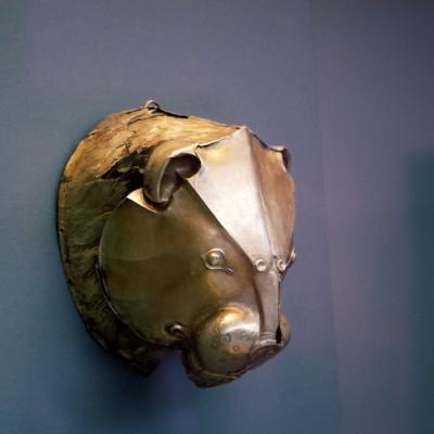 Rython en or en forme de tête de lion