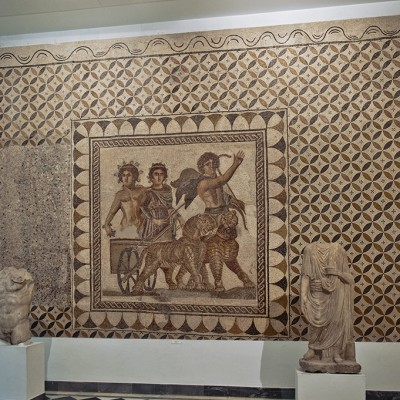 Le triomphe de Bacchus et Ariane - Mosaïque romaine, Musée Archéologique de Séville.