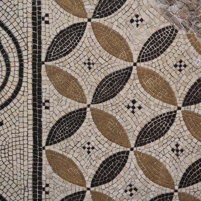 Détail de motifs, mosaïque romaine Musée Archéologique de Séville