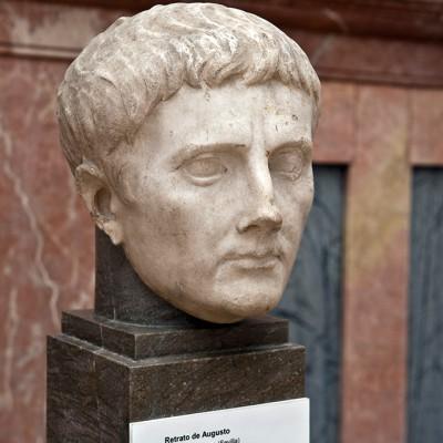 Portrait d'Auguste - Italica, Santiponce (Séville) période de Tibère - Musée Archéologique de Séville