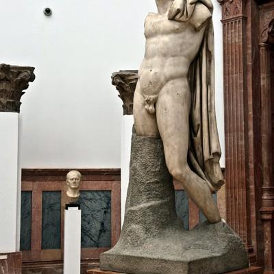 Sculpture héroïque de l'empereur Trajan - Italica, Santiponce (Séville) 2poque d'adrien (117-138 après J.C. - Musée Archéologique de Séville