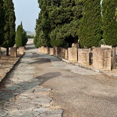 Rues dallées, avec trottoirs et portiques - Italica, Santiponce (Séville)