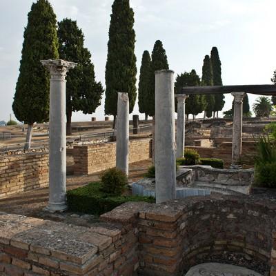 Atrium de la maison des oiseaux à Italica