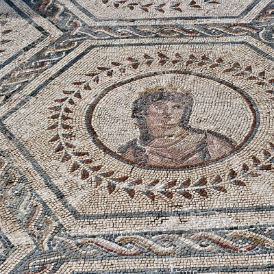 Venus - Afrodita – déesse de la beauté et de l'amour. La maison du Planétarium - Mosaïque - Site d' Itálica près de Séville.