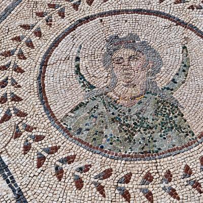 Selena – déesse de la lune - La maison du Planétarium - Mosaïque - Site d' Itálica près de Séville.
